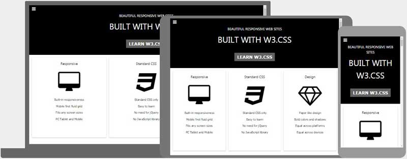 W3 css templates for Responsive website templates free download html with css